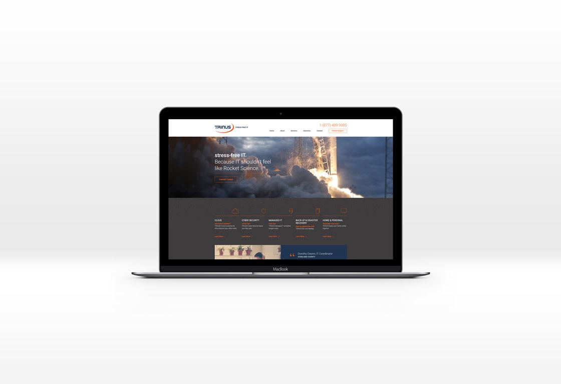 Trinus - Managed IT services website screenshot
