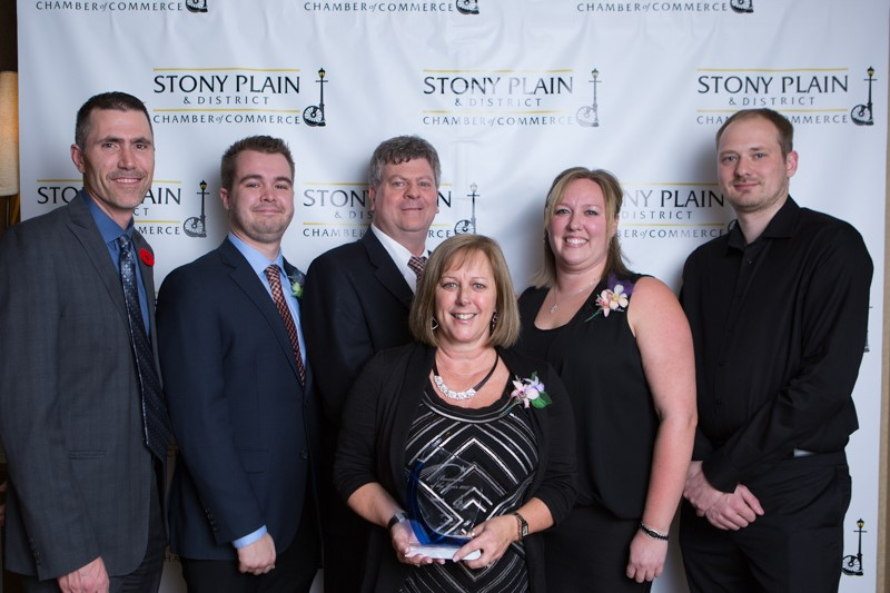 The TRINUS team at Stony Plain Chamber Awards