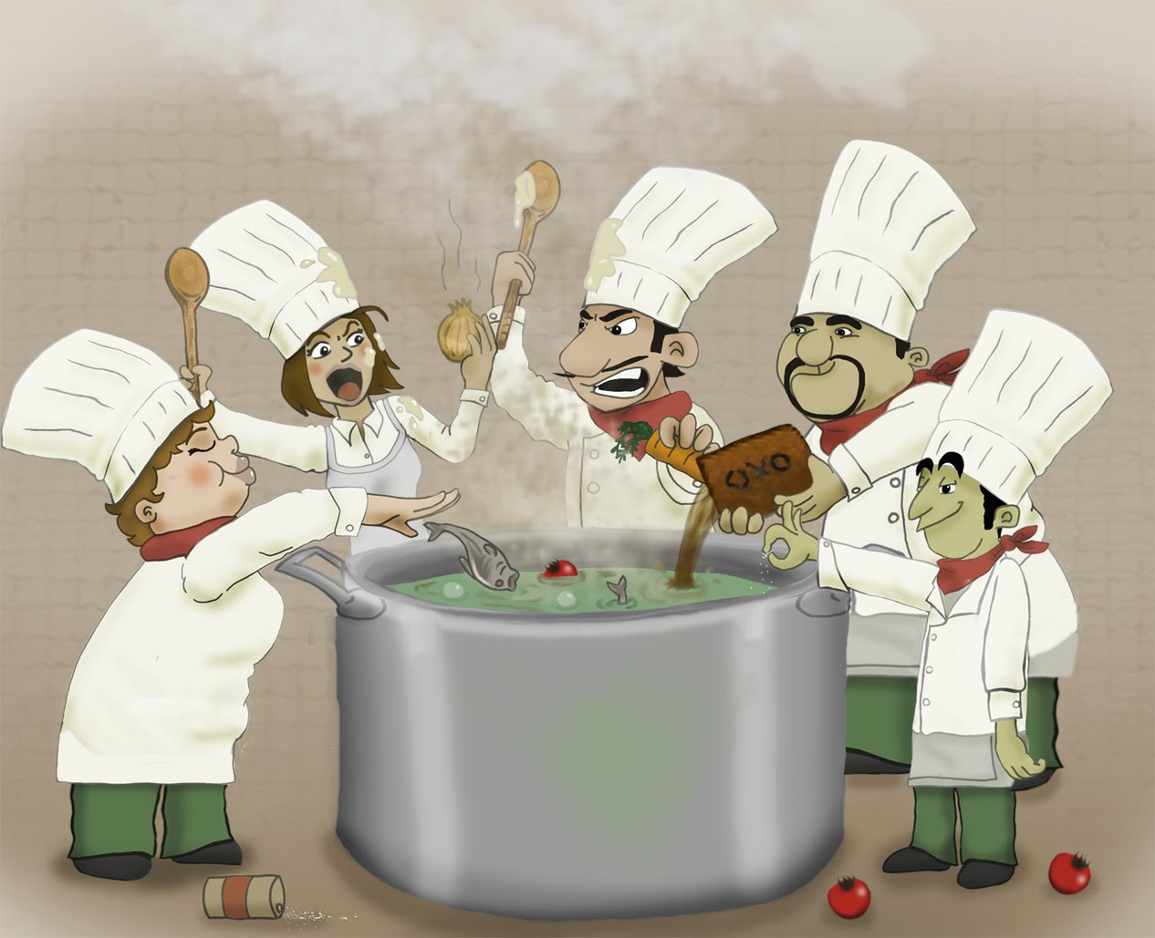 Too Many Cooks Spoil Security